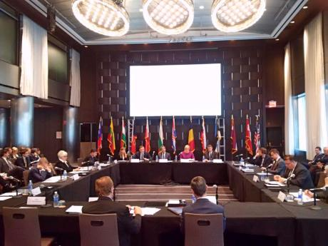 First Meeting in New York of Adriatic-Baltic-BlackSea Group initiated by Croatia's President 29 September 2015 Photo: predsjednica,hr