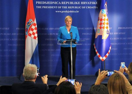President of Croatia Kolinda Grabar-Kitarovic addresses the nation after the results of 2015 parliamentary elections announced Photo: predsjednica.hr