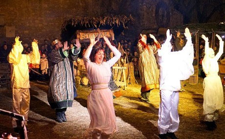 Live Nativity Zagreb Croatia 2015 Rejoicing in birth of Christ