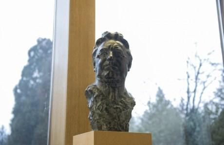 bust of Franjo Tudjman by sculptor Kruno Bosnjak placed among Croatian greats at Office of the President of Croatia 19 February 2016
