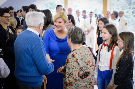 "President of Croatia Kolinda Grabar-KItarovic meets Croatia's citizens at her office as part of ""Days of Open Doors"" initiative Foto: Goran Mehkek / CROPIX"
