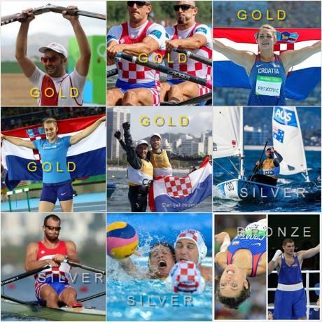 CROATIA AT 2016 OLYMPICS OLYMPIC GOLD Josip Glasnovic (shooting) Valent & Martin Sinkovic (rowing) Sime Fantela & Igor Marenic (sailing) Sara Kolak (javelin) Sandra Perković (discus) OLYMPIC SILVER Men's Water Polo Damir Martin (rowing) Tonci Stipanovic (sailing) OLYMPIC BRONZE Blanka Vlasic (high jump) Filip Hrgovic (boxing)