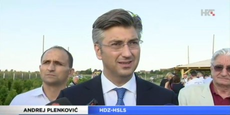 Andrej Plenkovic, HDZ/Croatian Democratic Union Photo: Screenshot hrt.hr 3 September 2016