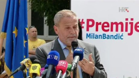 Milan Bandic Coalition for Prime Minister Photo: hrt.hr
