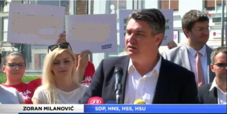 Zoran Milanovic SDP/Social DEmocratic Party Photo: Screenshot hrt.hr 3 September 2016