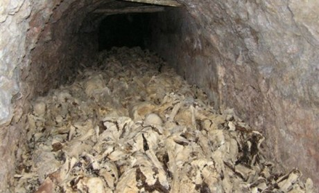 Inside Huda Pit mass grave (photo taken 2009)