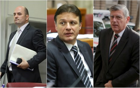 From left: Miljan Brkic, Gordan Jandrokovic, Zeljko Reiner HDZ's deputies of Croatian Parliament Will these men manage to keep in check the small-town-mayor- turned-speaker-of-parliament Bozo Petrov if once again he goes rogue against government leadership? Photo: Patrik Macek/Pixsell