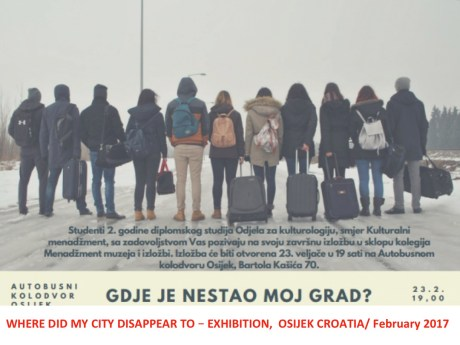 "Poster for Osijek Exhibition ""Where Did My City Disappear To"""