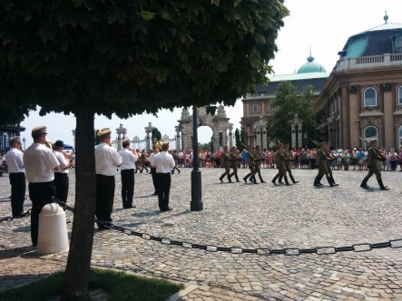 The changing of the guard at the Buda castle