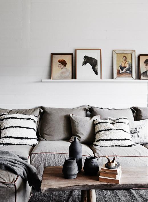 rustikt vardagsrum