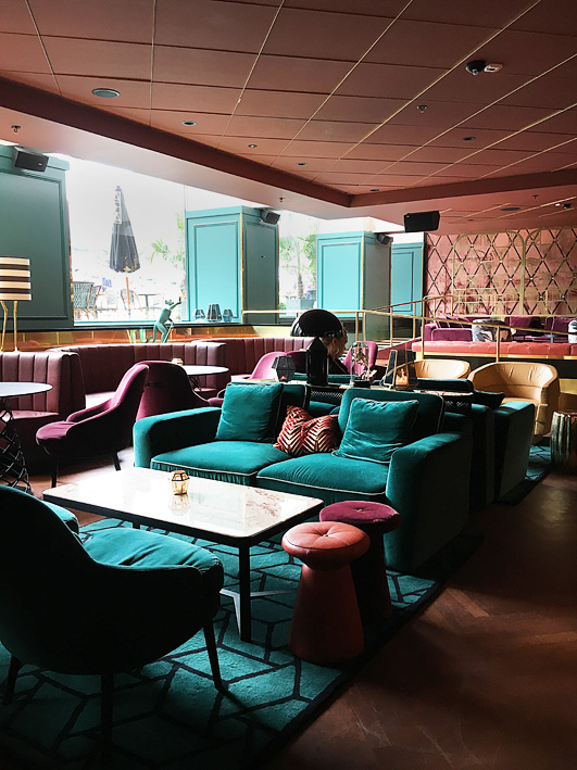 Haymarket Hotel with Art deco details.
