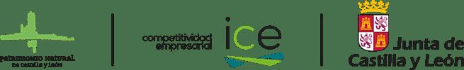 Logotipos Junta CyL, ICE y Patrimonio Natural de CyL