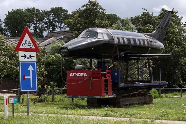 Vliegtuig in de polder