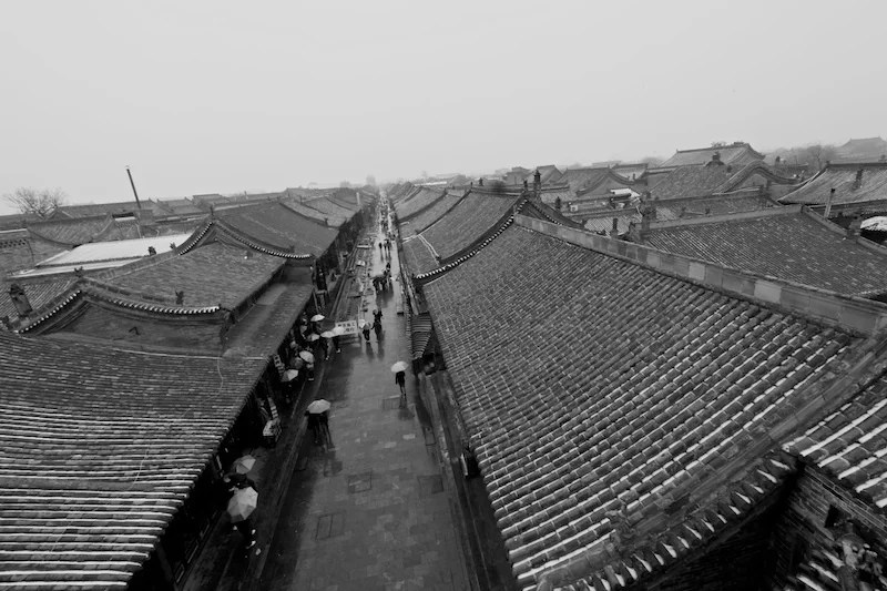 Pingyao snowy roofs small