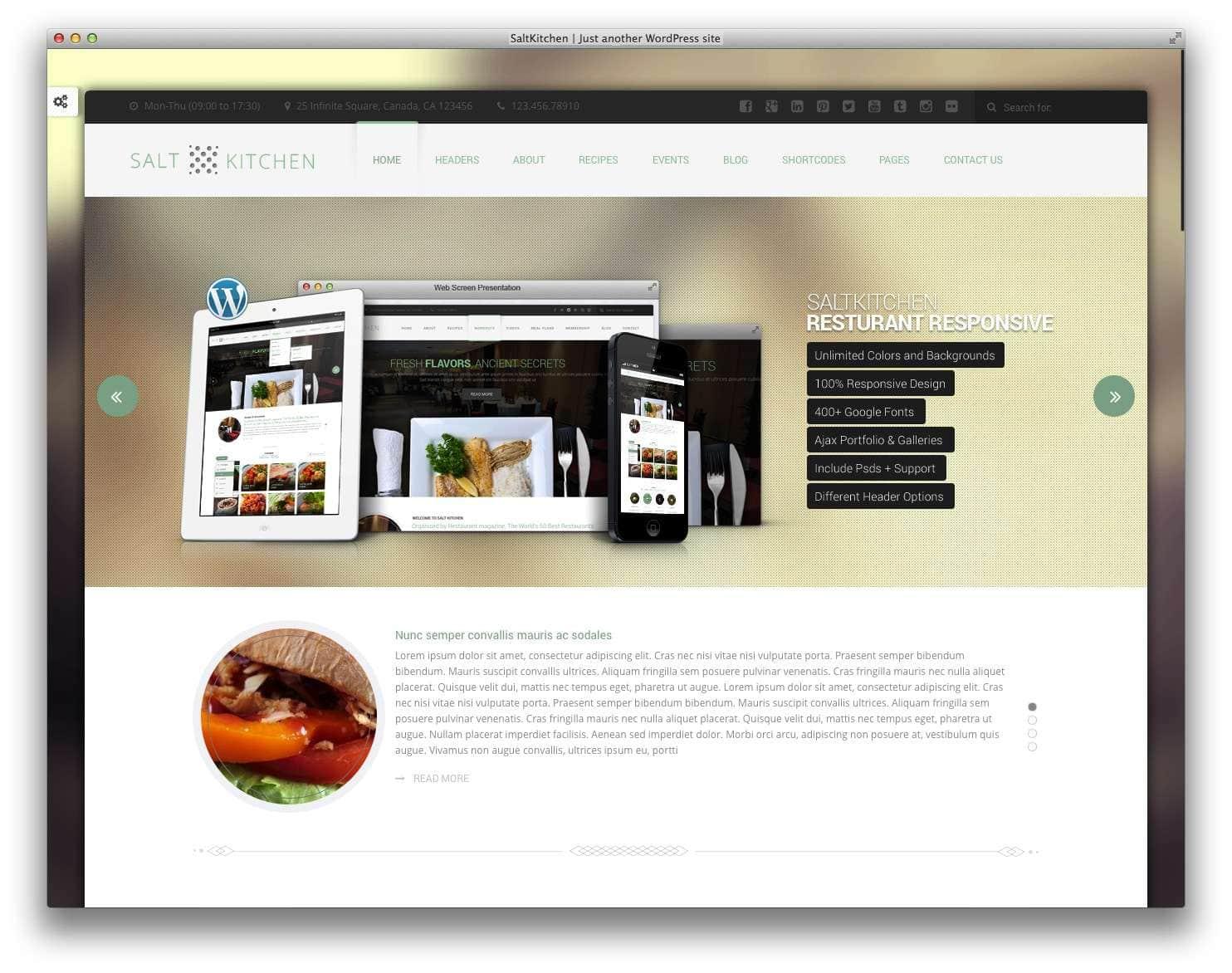 кулинарные темы WordPress 19
