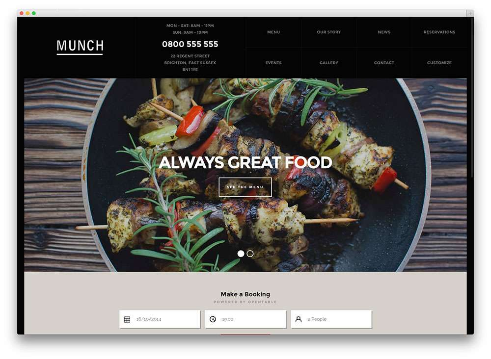 кулинарные темы WordPress 2