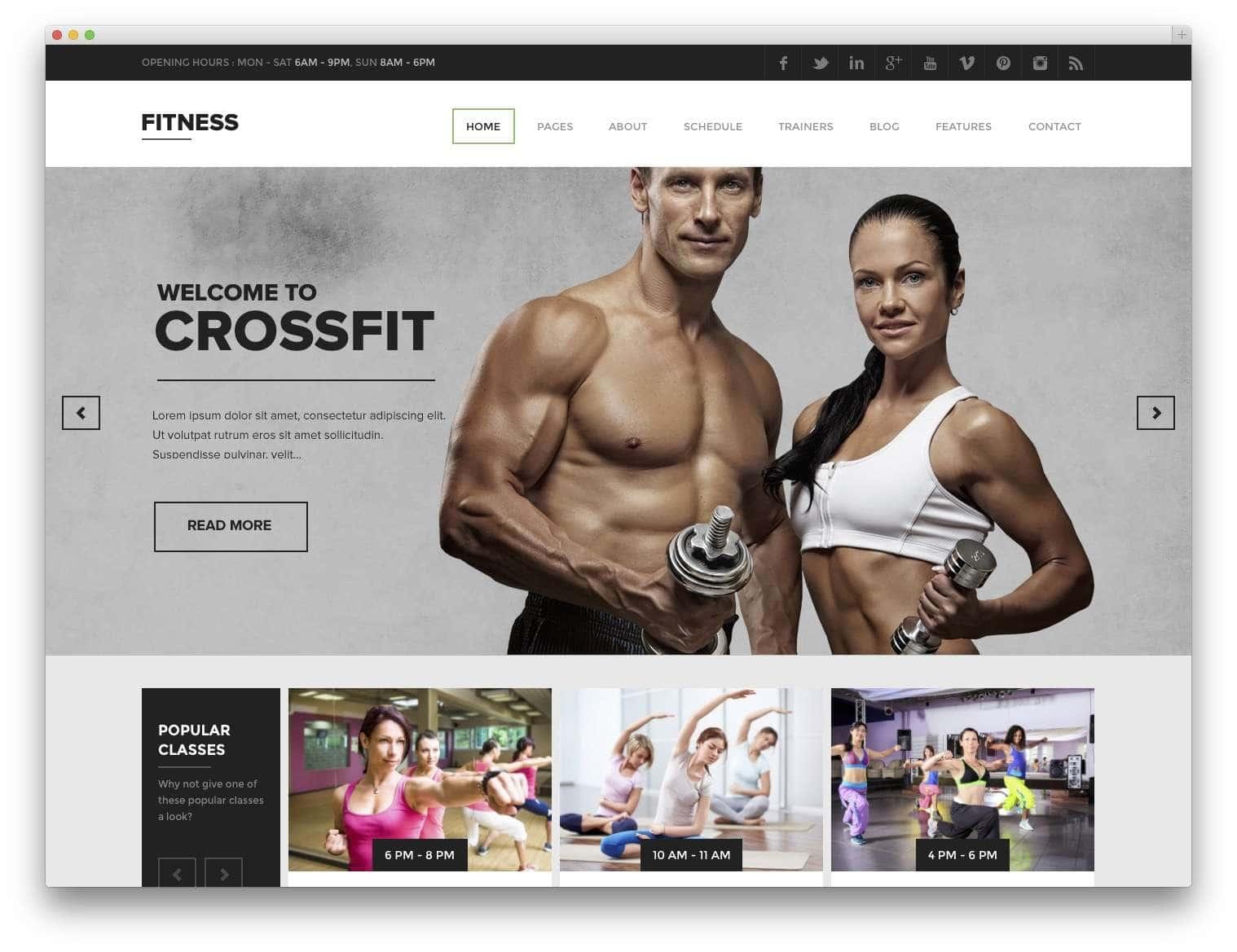 лучших тем WordPress – Фитнес и спорт