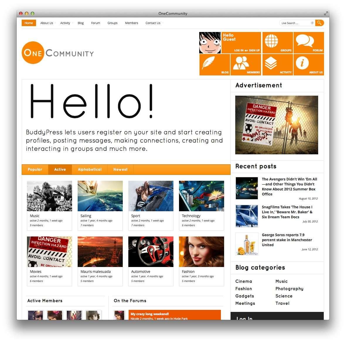 Отзывчивые темы WordPress в стиле Metro