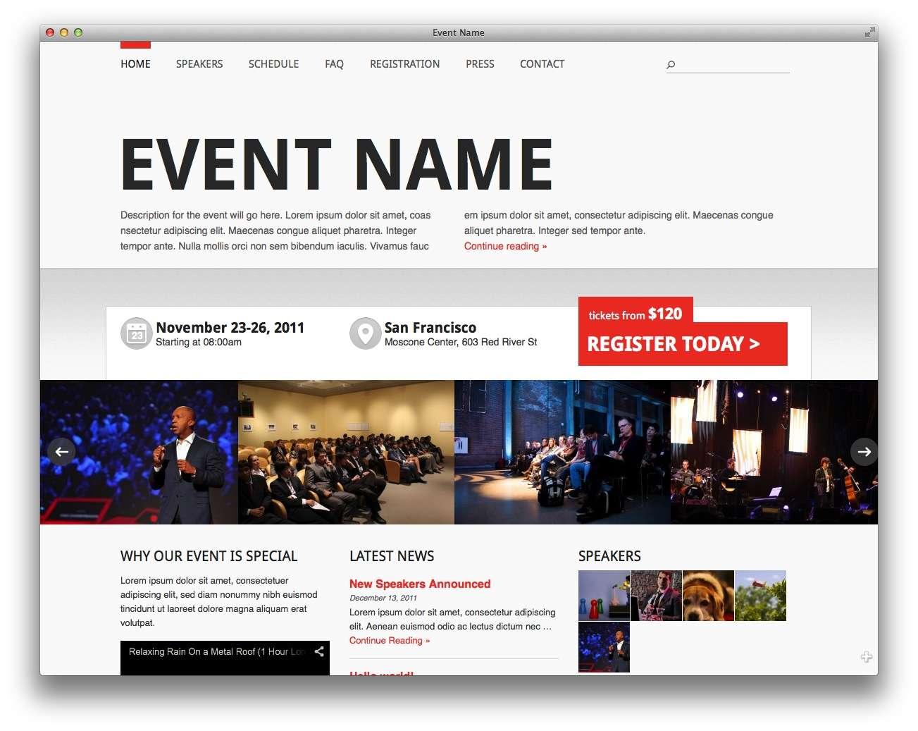 шаблоны wordpress 2015 – события и конференции3