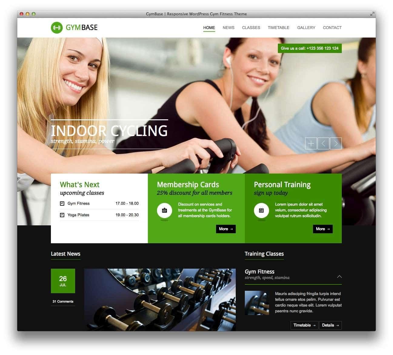 WordPress шаблоны – Фитнес и спорт 8