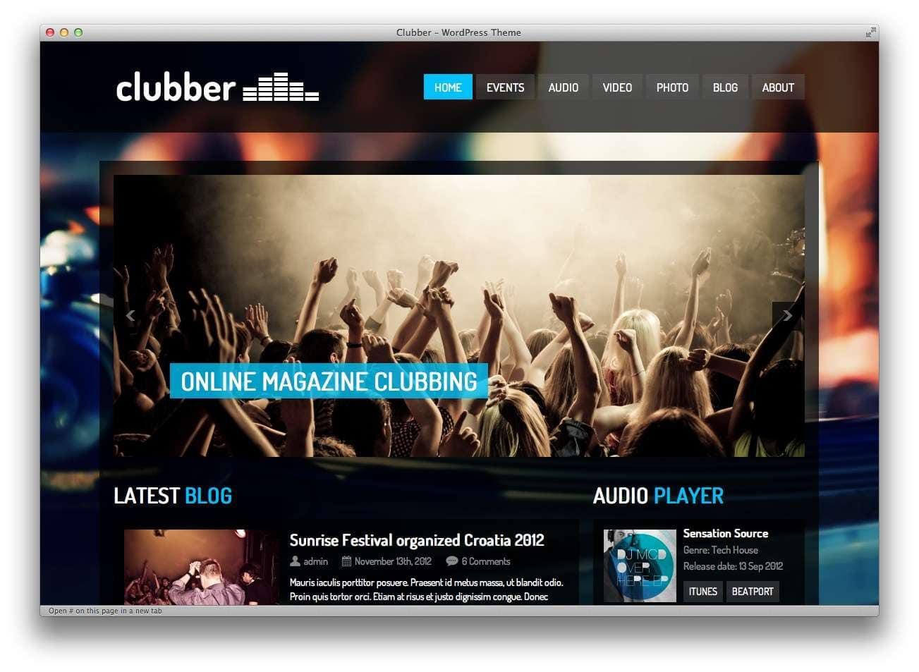 музыкальные темы WordPress4