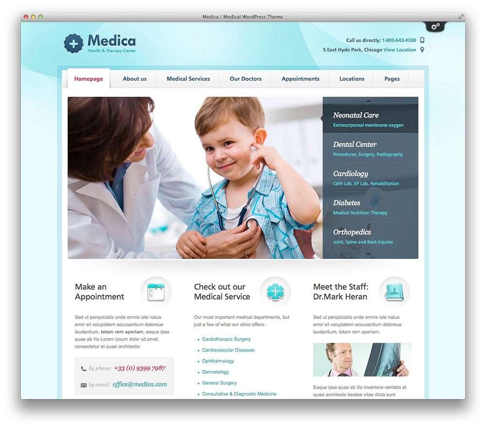 WordPress темы о здоровье 8