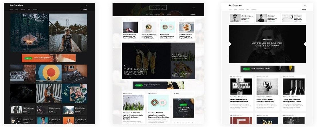 демо шаблоны WordPress с контентом и современным дизайном 07