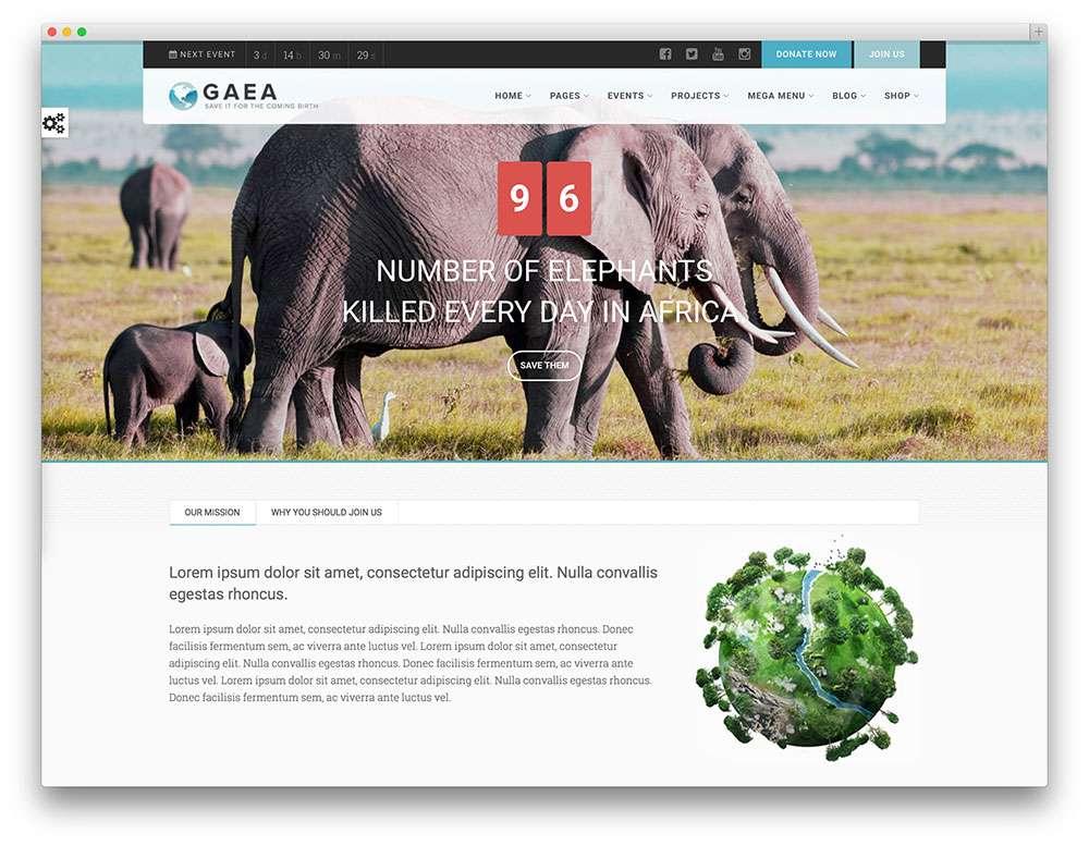 тема WordPress для некоммерческих организаций