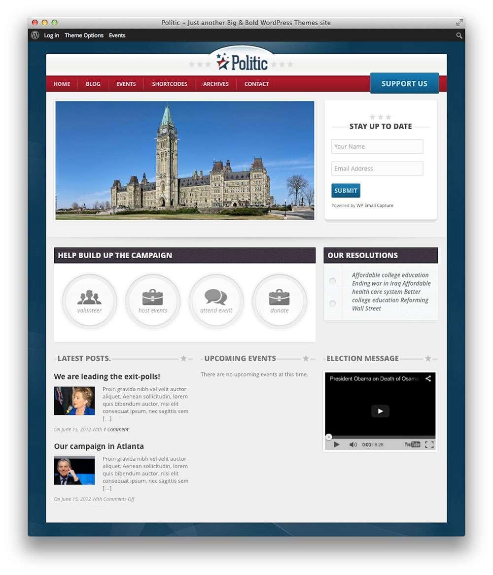 Шаблоны Вордпресс для создания политического сайта