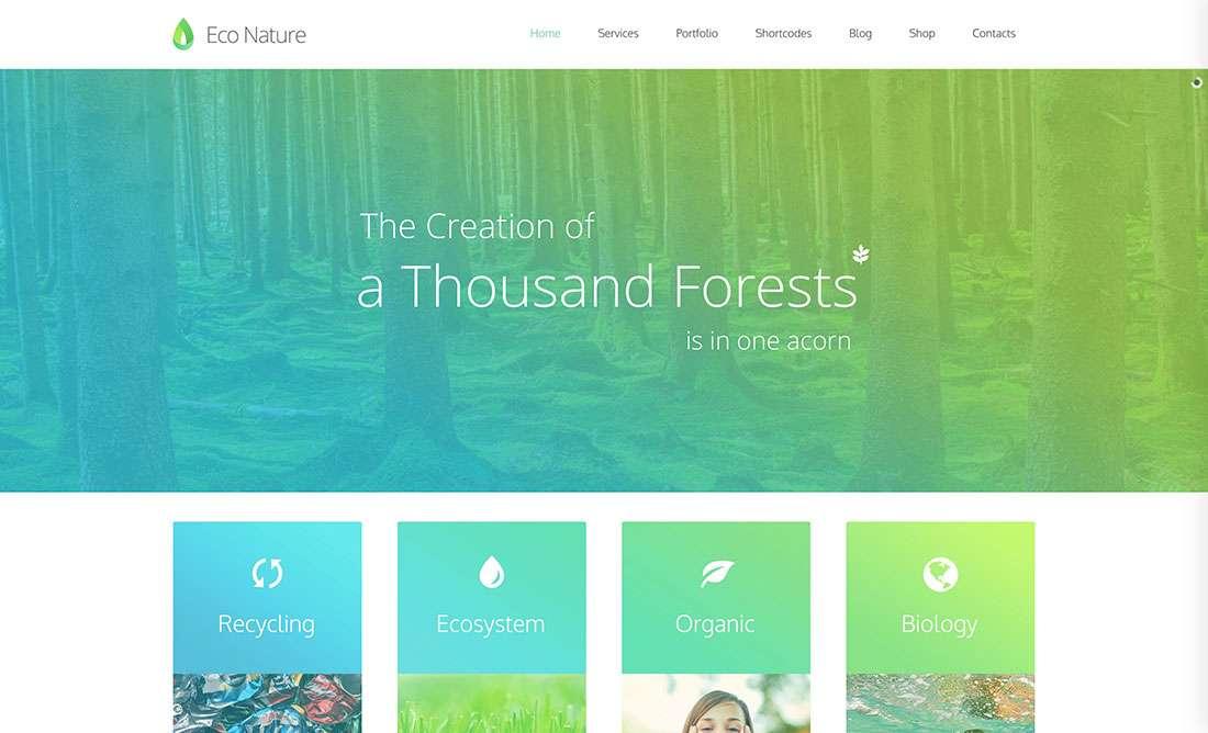 Зеленые темы WordPress 2015