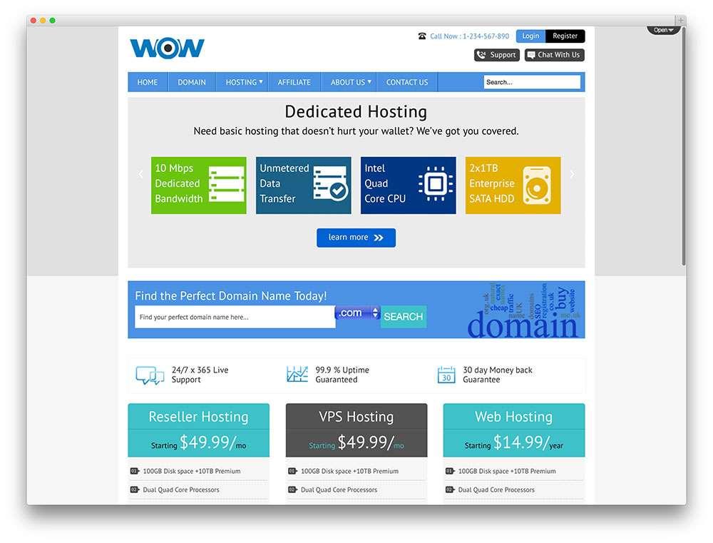 Лучшие темы WordPress для хостинга 2015