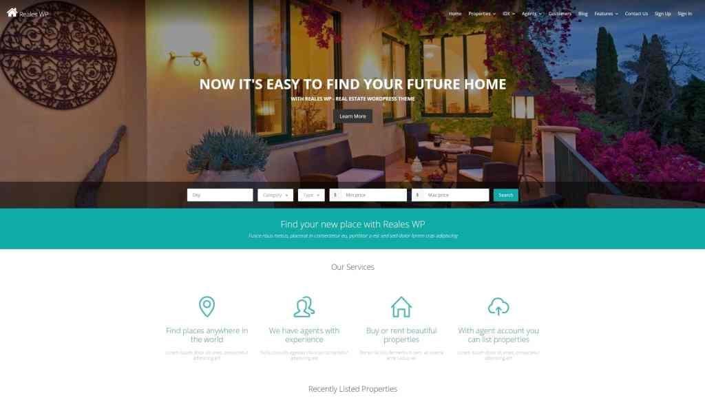 русские шаблоны WordPress для недвижимости для сайтов с каталогом и онлайн-оплатой 17