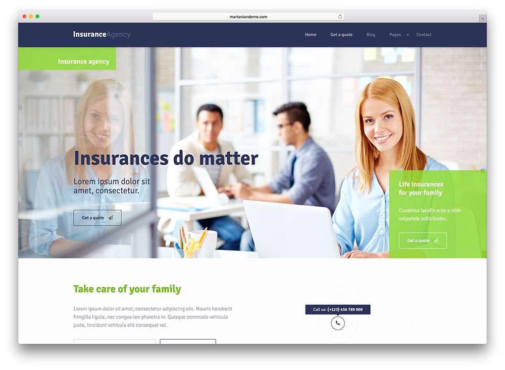 Темы WordPress для страхования и финансов 2016