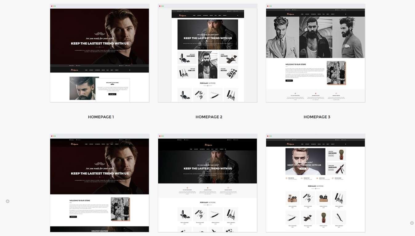 шаблон Prestashop для мужского интернет магазина