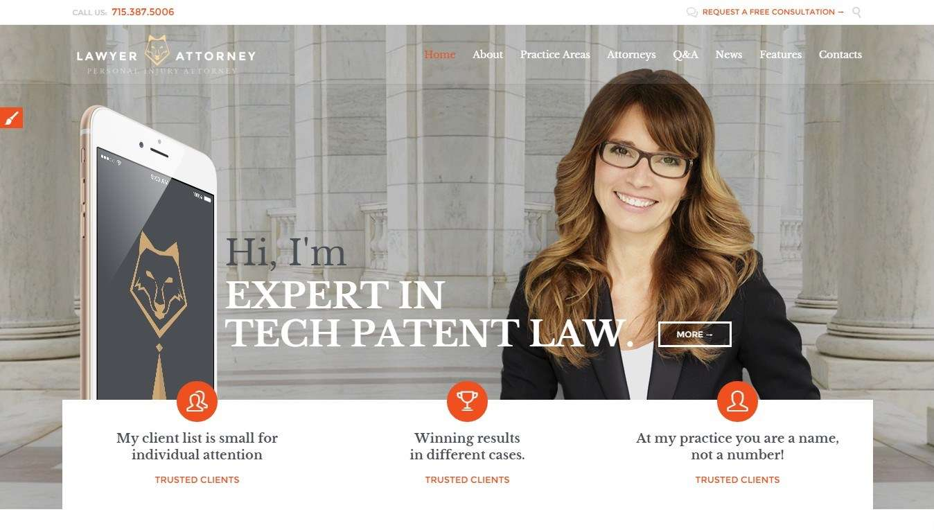 Лучшие WordPress шаблоны для адвоката и юриста 2016