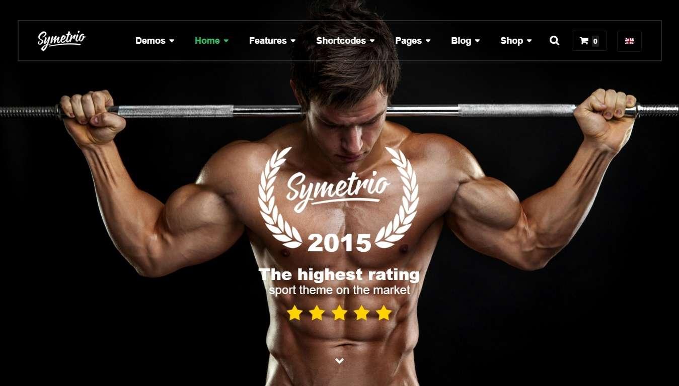 Шаблоны сайта для фитнес клуба