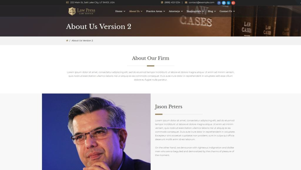 Лучшие WordPress шаблоны для адвоката и юриста с записью 01