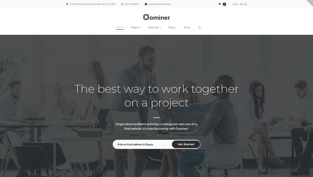 Красивые шаблоны сайтов с эксклюзивным дизайном 01