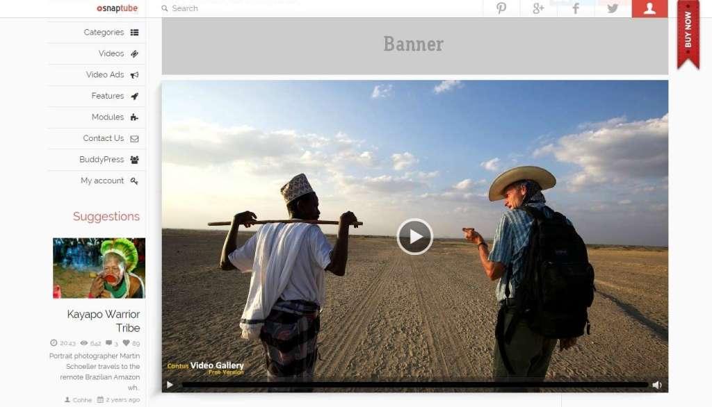самый лучший шаблон видео сайта на WordPress 2016