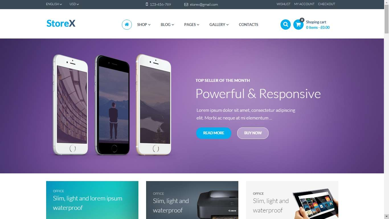 Woocommerce - online shop wordpress themes (2)