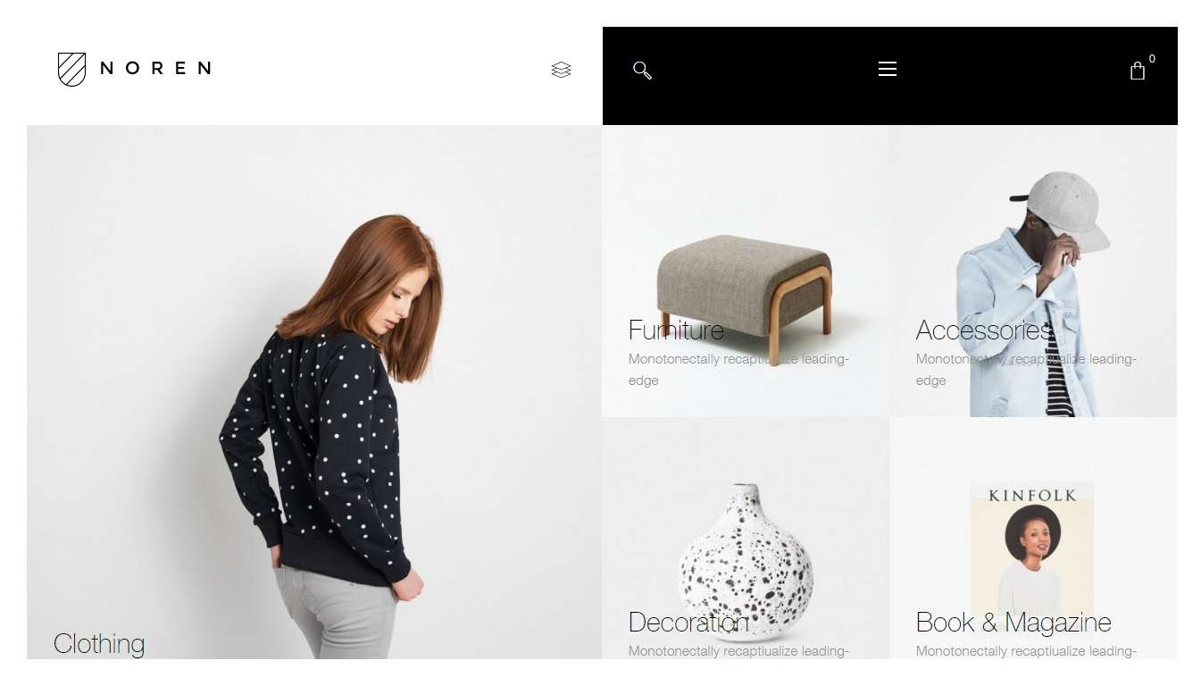 Woocoomerce - online shop wordpress themes