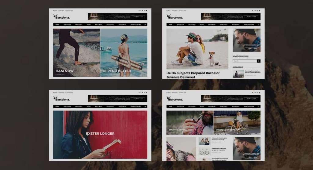 красивые WordPress blog премиум шаблоны для блога 2016