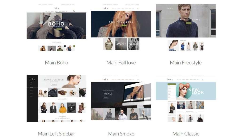 прекрасный шаблон интернет магазина одежды 2016