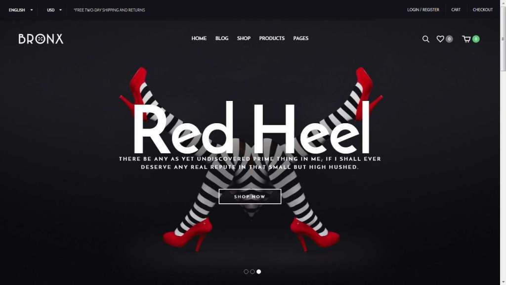 яркий шаблон интернет магазина одежды 2016