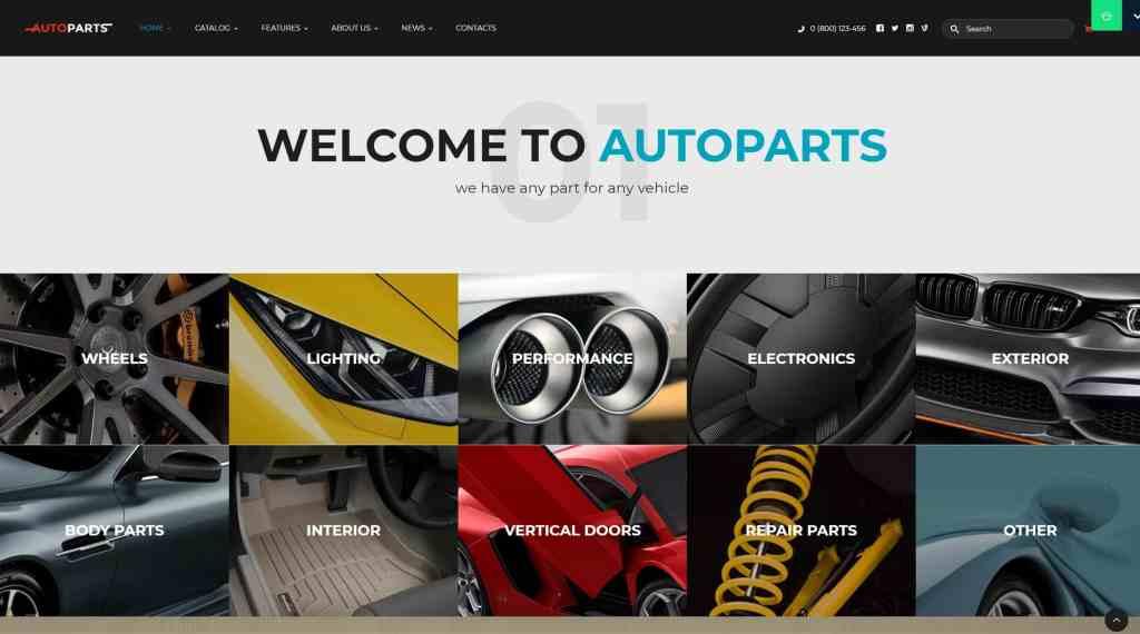 самые лучшие авто шаблоны WordPress для продажи авто, автомеханика и автомастерской 17