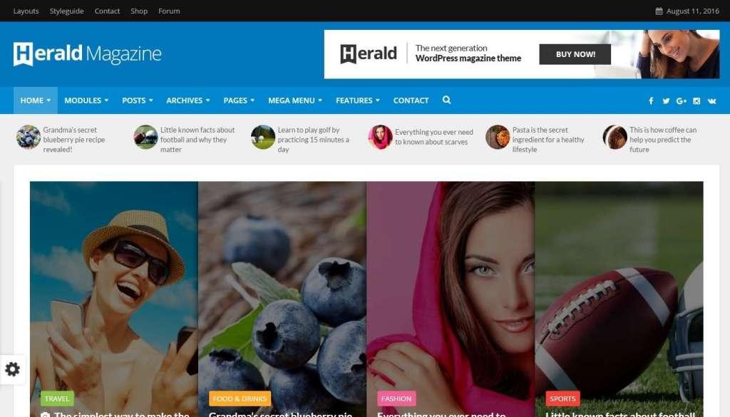 многофункциональные шаблоны WordPress СМИ - новостные темы WordPress 2016