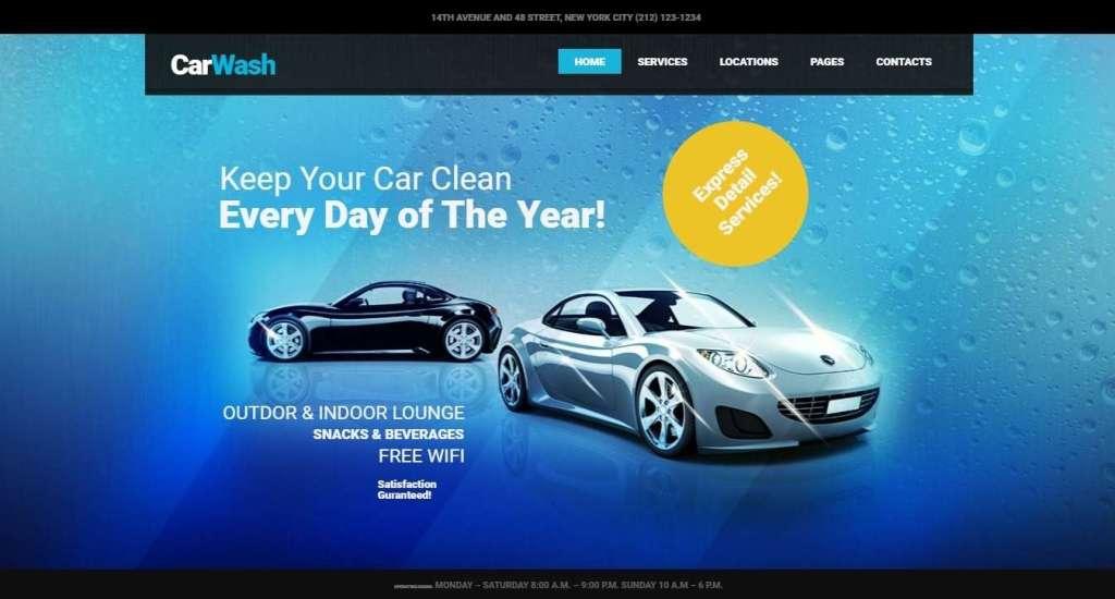 многофункциональные WordPress шаблоны автомойки с премиум дизайном и функциями