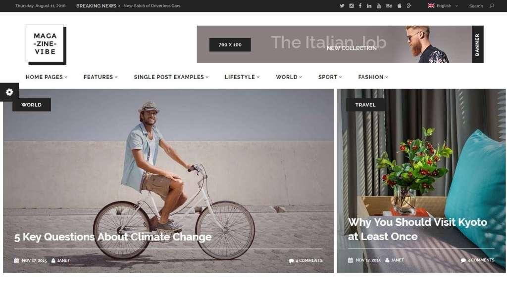 невероятные шаблоны WordPress СМИ - новостные темы WordPress 2016