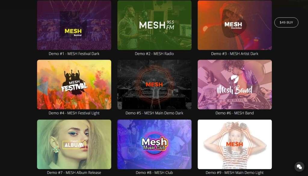 удобные шаблоны музыкального сайта, подкастов и радио на WordPress 2016