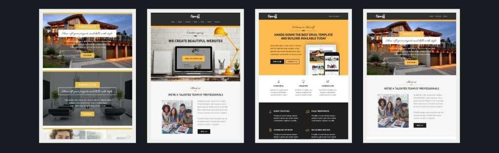 адаптивные Email Шаблоны для рассылок 2017 - 300+ email шаблонов 04